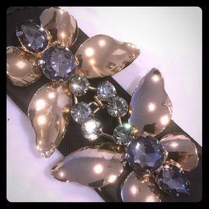 BCBG butterfly jeweled belt size L